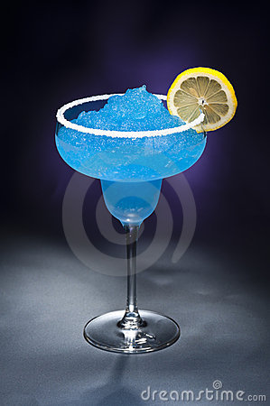 Free Blue Margarita Cocktail Royalty Free Stock Images - 22143539