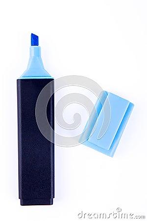 Free Blue Marker Pen Isolated Stock Image - 116622531