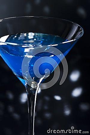 Free Blue Martini Cocktail Royalty Free Stock Photo - 31022975