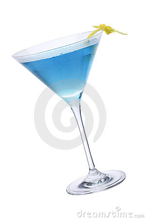 Free Blue Martini, Cocktail And Lemon Stock Photography - 14276862