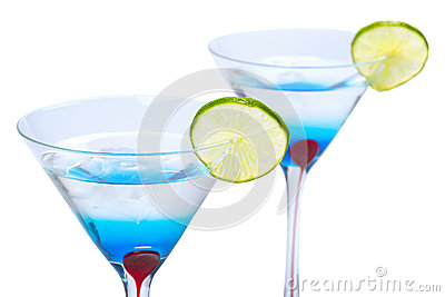 Blue Martini curacao drink