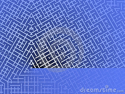 Blue Maze Background