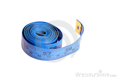 Blue measure tape