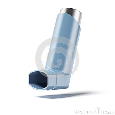 Blue medicine inhaler