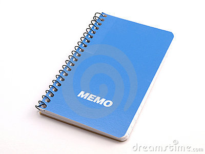 Blue Memo note book 1