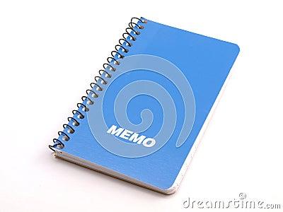Blue Memo note book 1