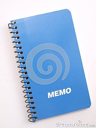 Blue Memo note book 2