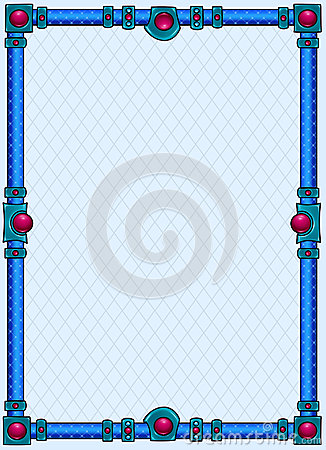 Blue metal background frame