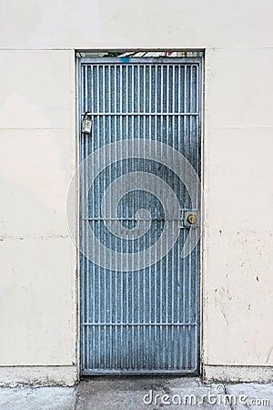 Blue Metal Door Stock Photo Image 40471726