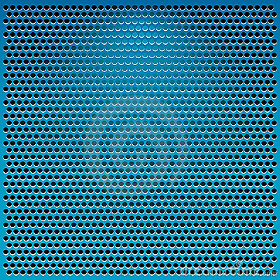 Blue metal grid