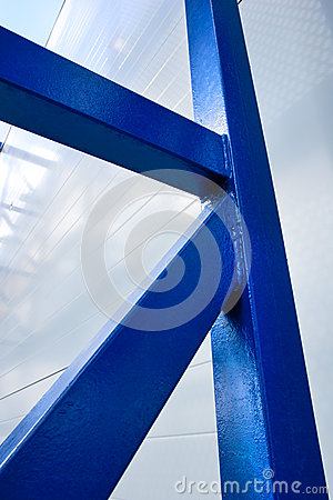 Free Blue Metal Support Construction Stock Photography - 32368362
