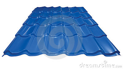 Blue metal tile