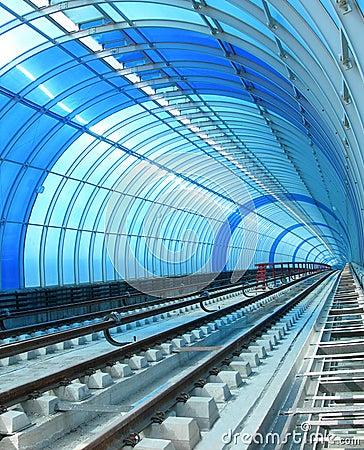 Blue Metro - Tube tunnel