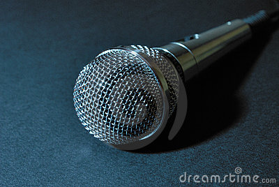 Microphone Bleu Photo stock - Image: 2592390