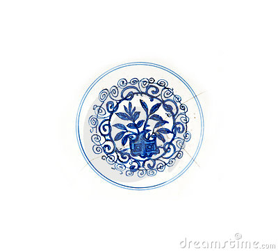 Free Blue Ming Plate Detail Stock Photography - 9800572
