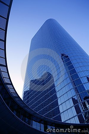 Free Blue Mirror Glass Facade Skyscraper Buildings Stock Image - 12293881