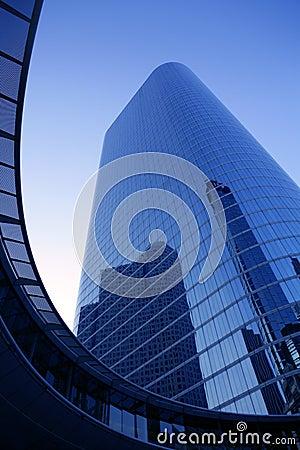 Free Blue Mirror Glass Facade Skyscraper Buildings Stock Image - 12293881
