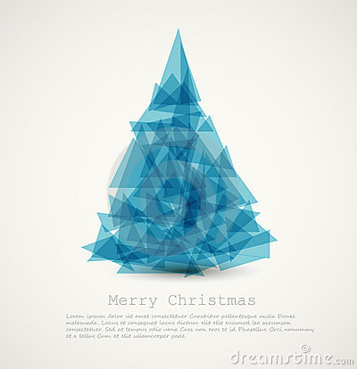 blue modern abstract christmas tree