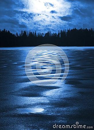 Frozen lake in Finland