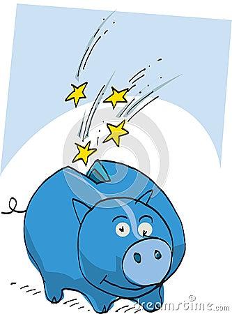 Blue money box