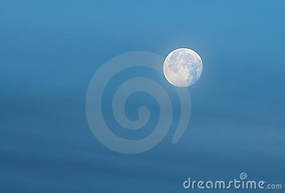 Blue Moon in Blue Sky