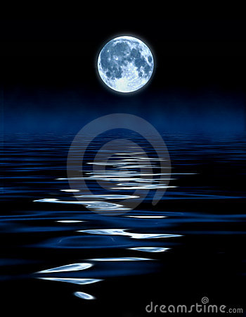 Free Blue Moon Ocean Stock Photography - 1992272