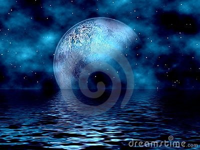 Blue Moon & Water
