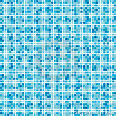 Blue mosaic background (Vector)