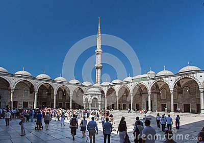 Blue Mosque Courtyard Istanbul Editorial Image