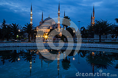 Blue Mosque, Istanbul, in dawn s early light.