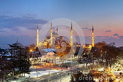 Blue Mosque, Istanbul Winter