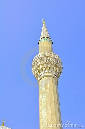 The blue mosque minaret