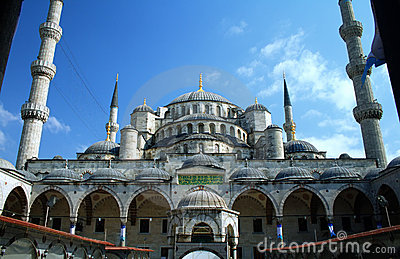 Blue mosque or Sultanahmet in Istanbul Turkey