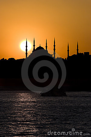 Blue Mosque and The Sunset