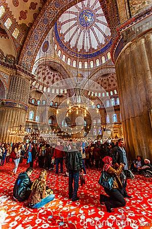 Blue mosquee interior Editorial Photo