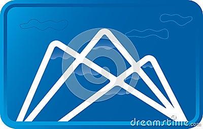 Blue mountain (vector)