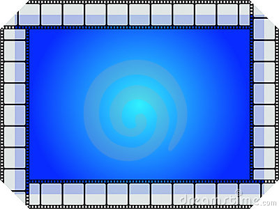 Blue movie frame
