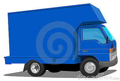 Blue Moving Van
