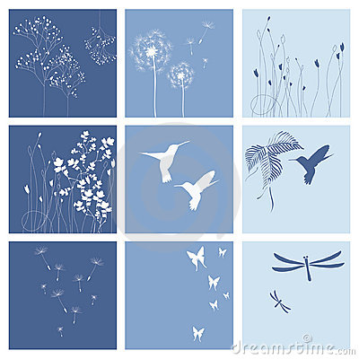 Blue nature backgrounds