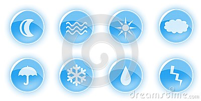 Blue nature icons