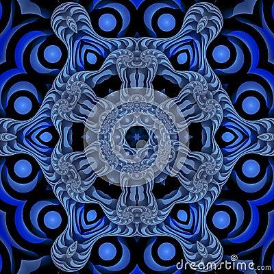 Free Blue Nautical Mandala Royalty Free Stock Photo - 4876775