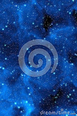 Blue nebula stars