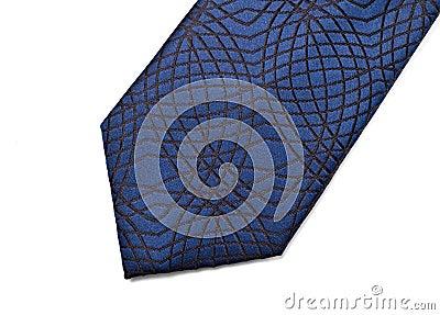 Blue necktie part