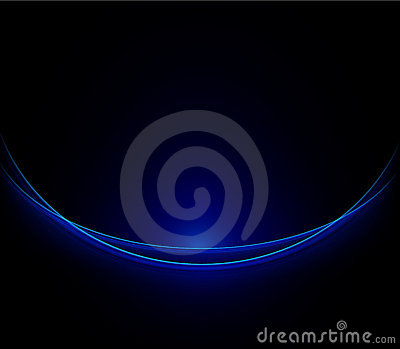 Blue neon lines