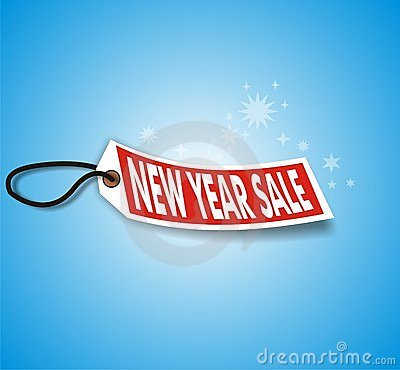 Blue New Year Sale