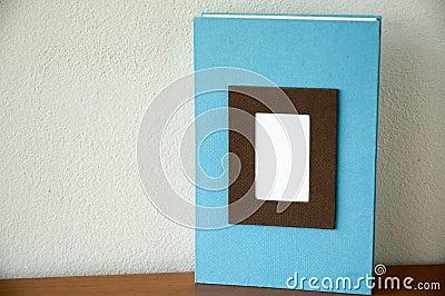 Blue note book put on desk