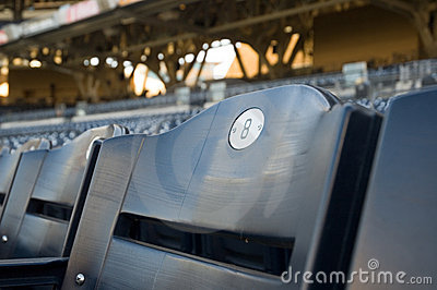 Blue Number 8 Stadium Seat