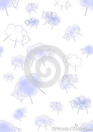 Blue nursery seamless