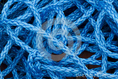 Blue nylon rope