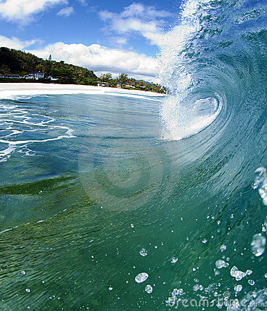 Free Blue Ocean Wave On The North Shore Of Hawaii Stock Image - 15431701